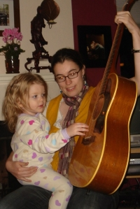 Showing my niece how to play Flamenco guitar